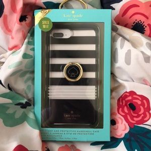 Black and white Kate Spade iPhone plus case